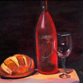 Bread & Wine Original Painting