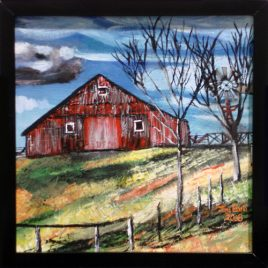 Hilltop Barn Original Painting