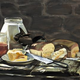 Old Fashioned Cooking Original Painting