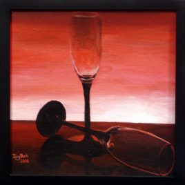 Wine Glasses Original Painting