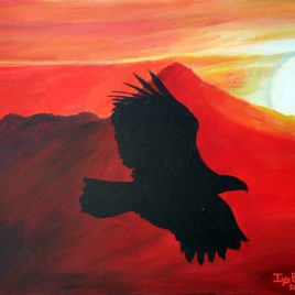 Eagle Silhouette Original Painting