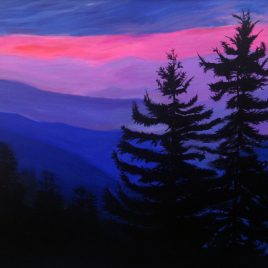 Blue Mountains Silhouette Original Painting