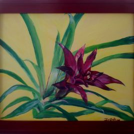 Guzmania Flower Original Painting