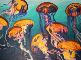Jellyfish-Field-painting