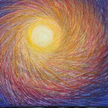 A Burst of light -Pastel Drawing