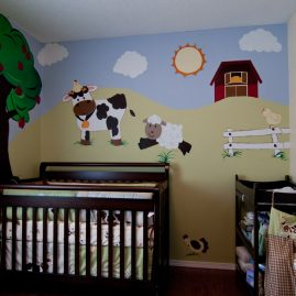 Barn Yard Nursery Wall Murals