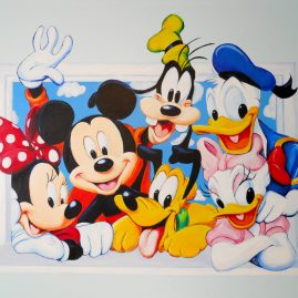 Wall Mural of a Mickey Mouse Scene by Ivy Bath